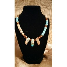 Turquiose and Brown Jasper Necklace